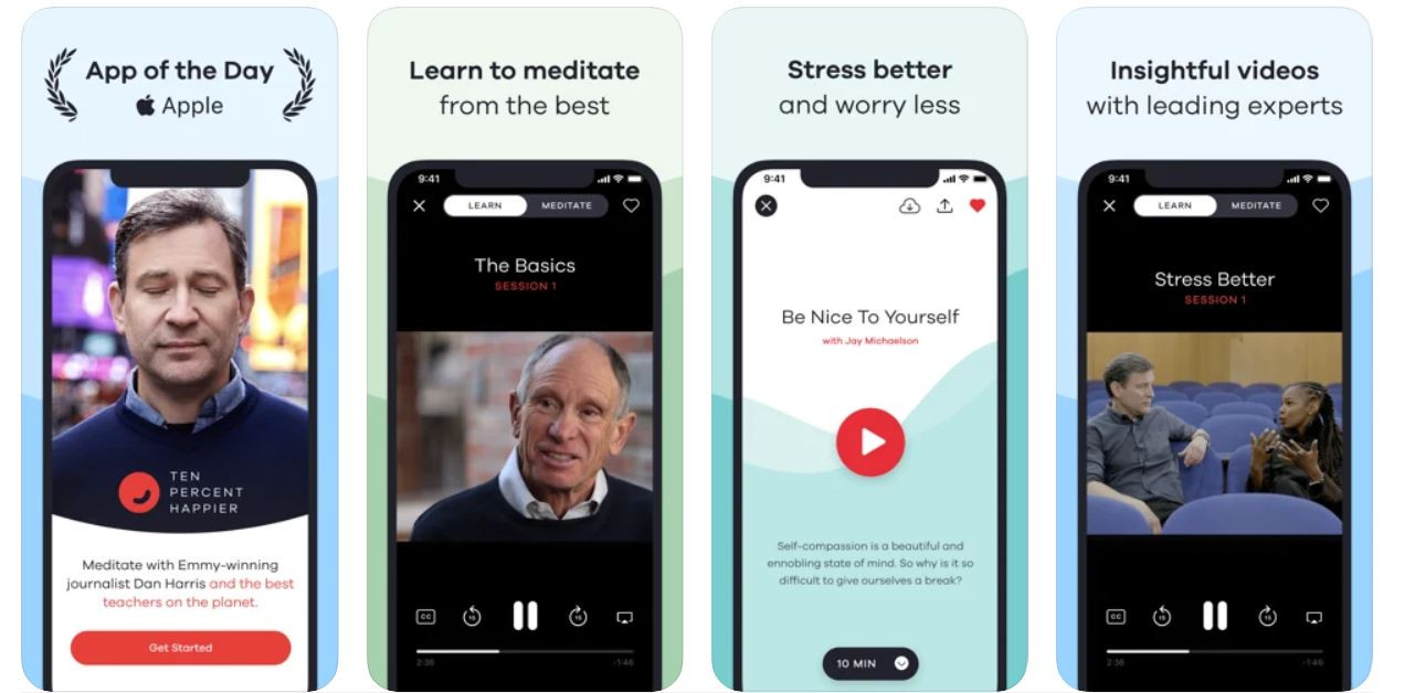 Ten Percent Happier Meditation app screen